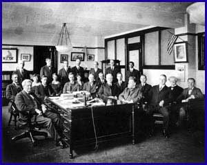 Wilson and his staff of directors