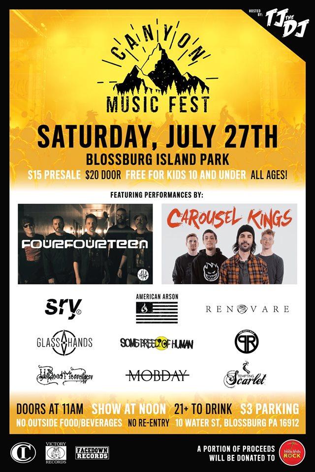 Canyon Music Festival 2019 Flyer